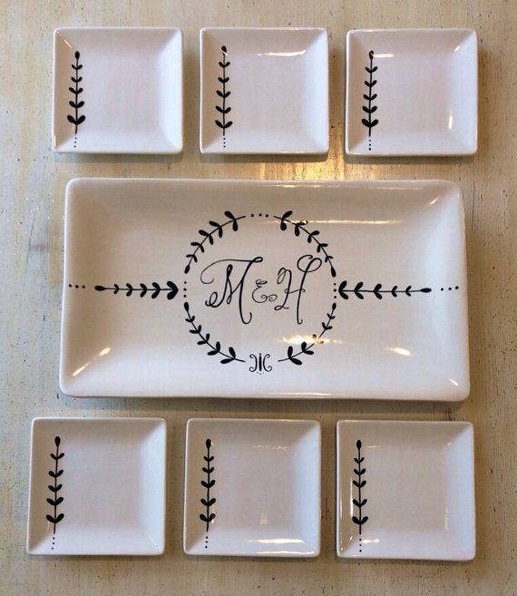 Custom+hand+painted+ceramic+serving+set  sc 1 st  Pinterest & This is beautiful work. Custom+hand+painted+ceramic+serving+set+by+ ...