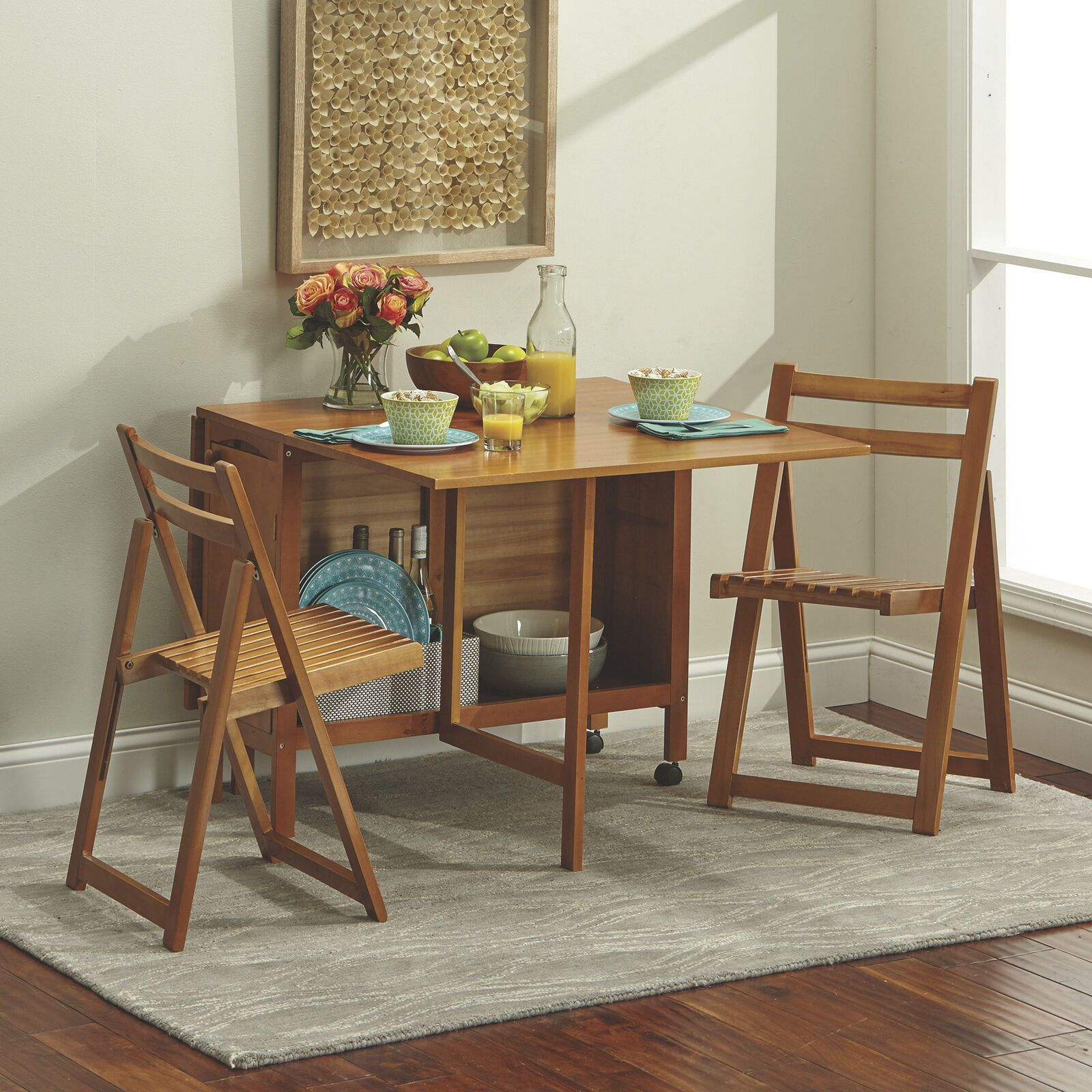 Details About 5 Pc Space Saving Foldable Portable Dining Set 1