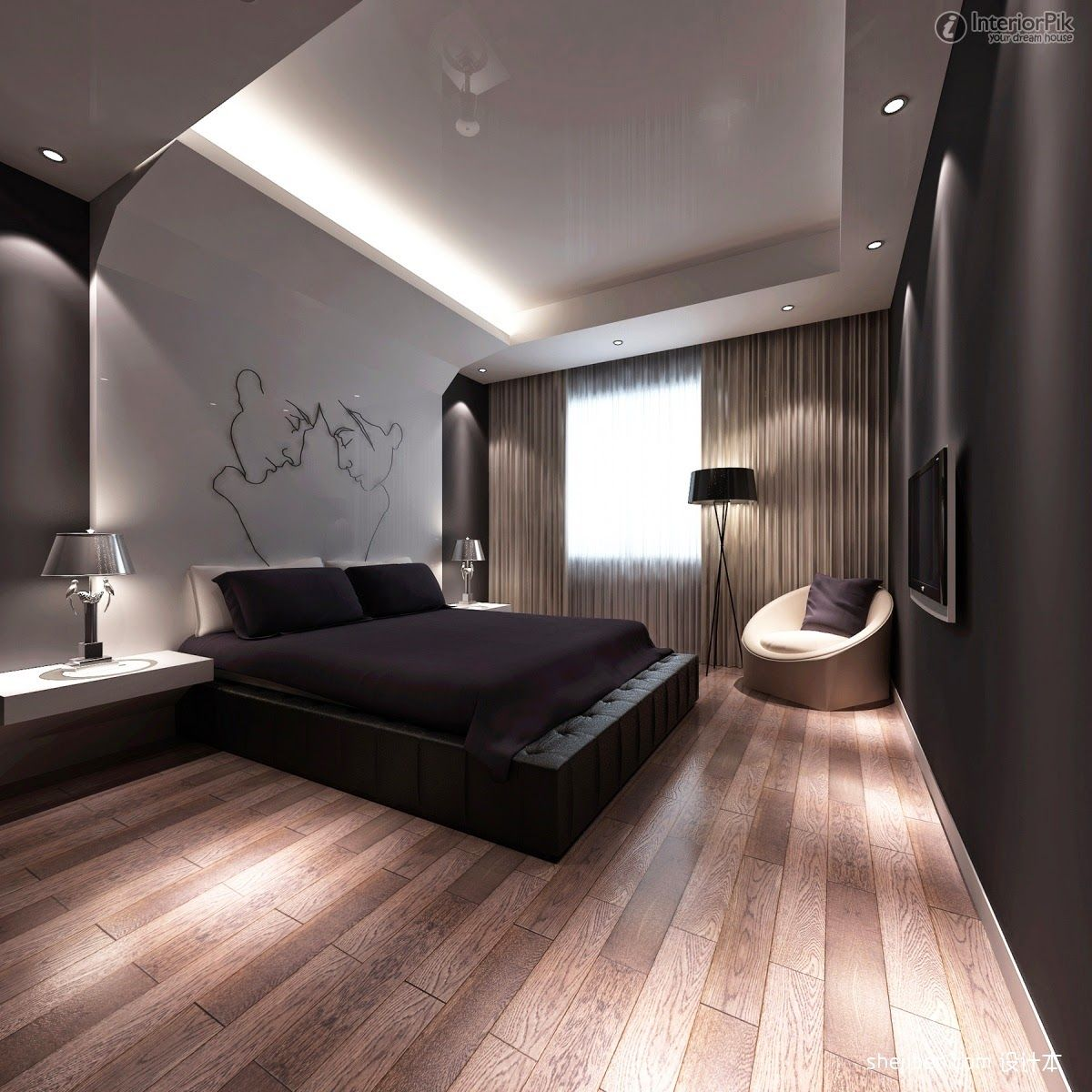 modern bedroom designs%0A Bedroom Design  Superb Modern Bedroom Designs Ideas      Interior Decorating  Furniture With Reccessed Light Also Engineering Wood Flooring And Standing  Lamp