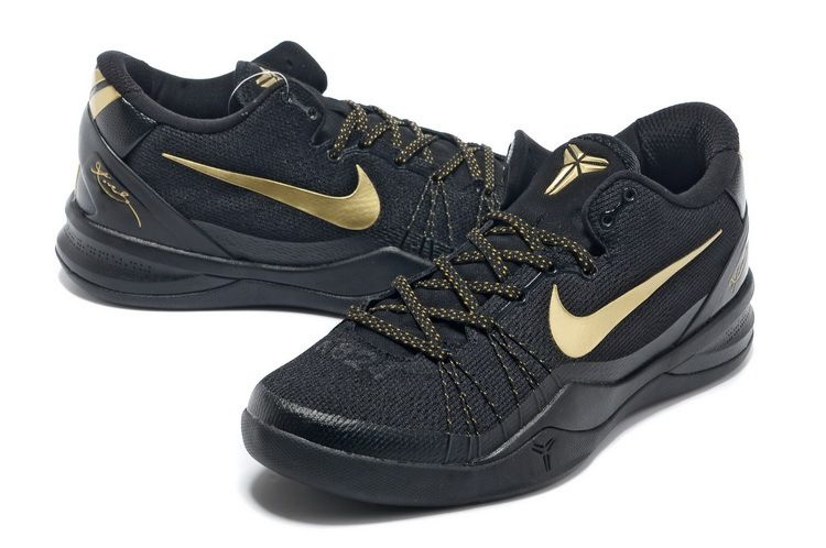 Nike Kobe Bryant 8 System Elite Playoff Black Gold Shoes
