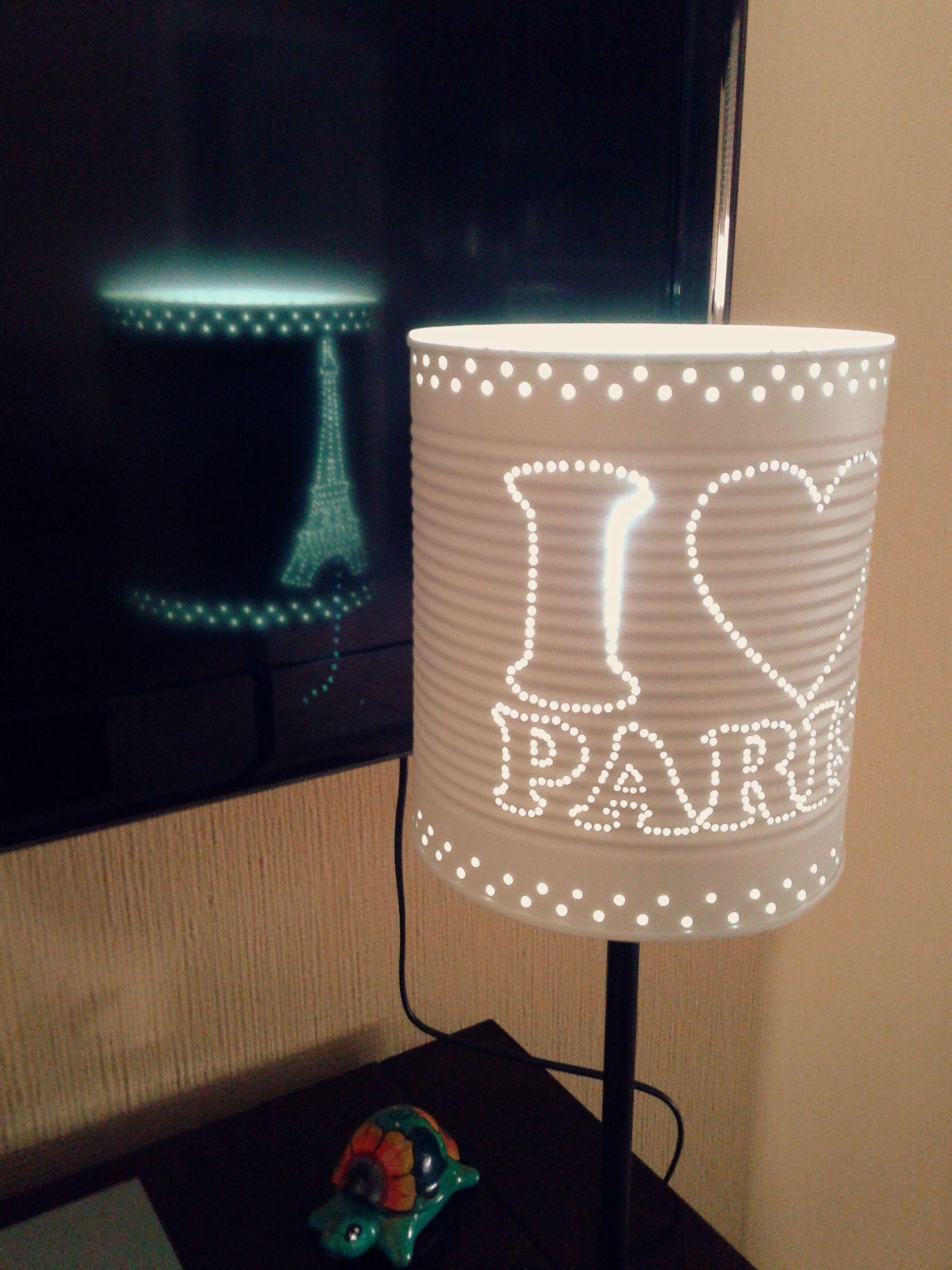 Paris je t 39 aime latas reciclaje decoracion - Reciclaje manualidades decoracion ...