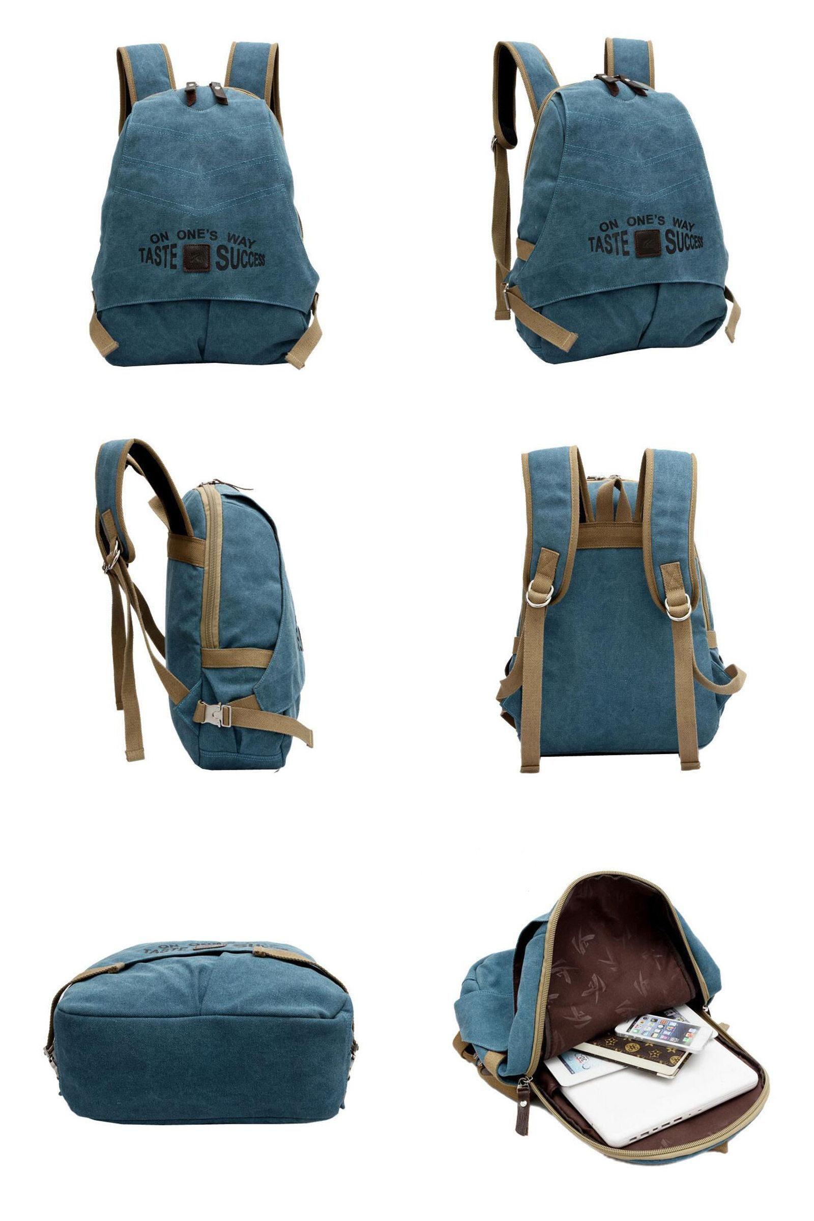 visit to vintage brand designer canvas men backpack double