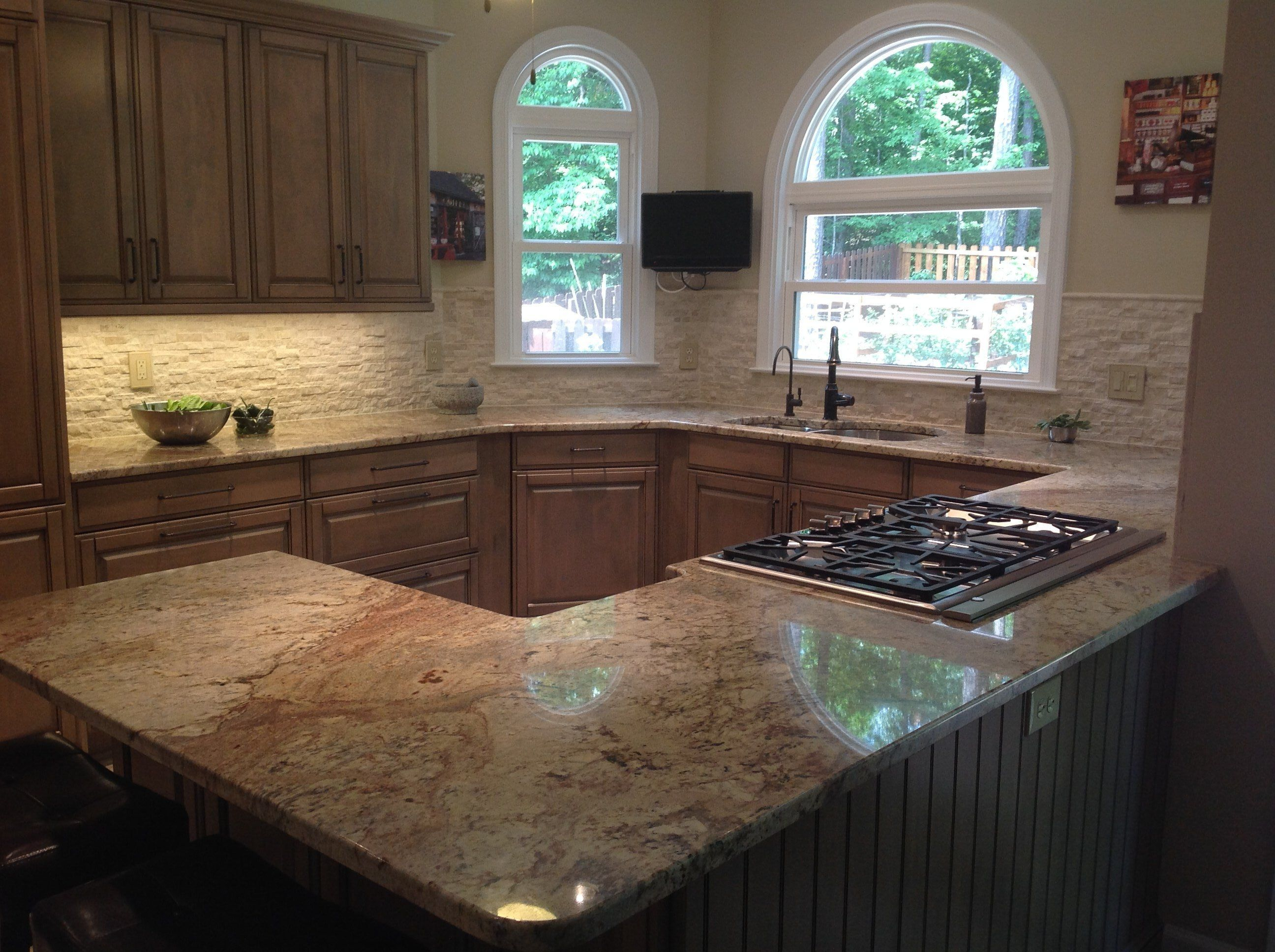 Cabinetry Is Brookhaven By Woodmode The Finish Is Harbor