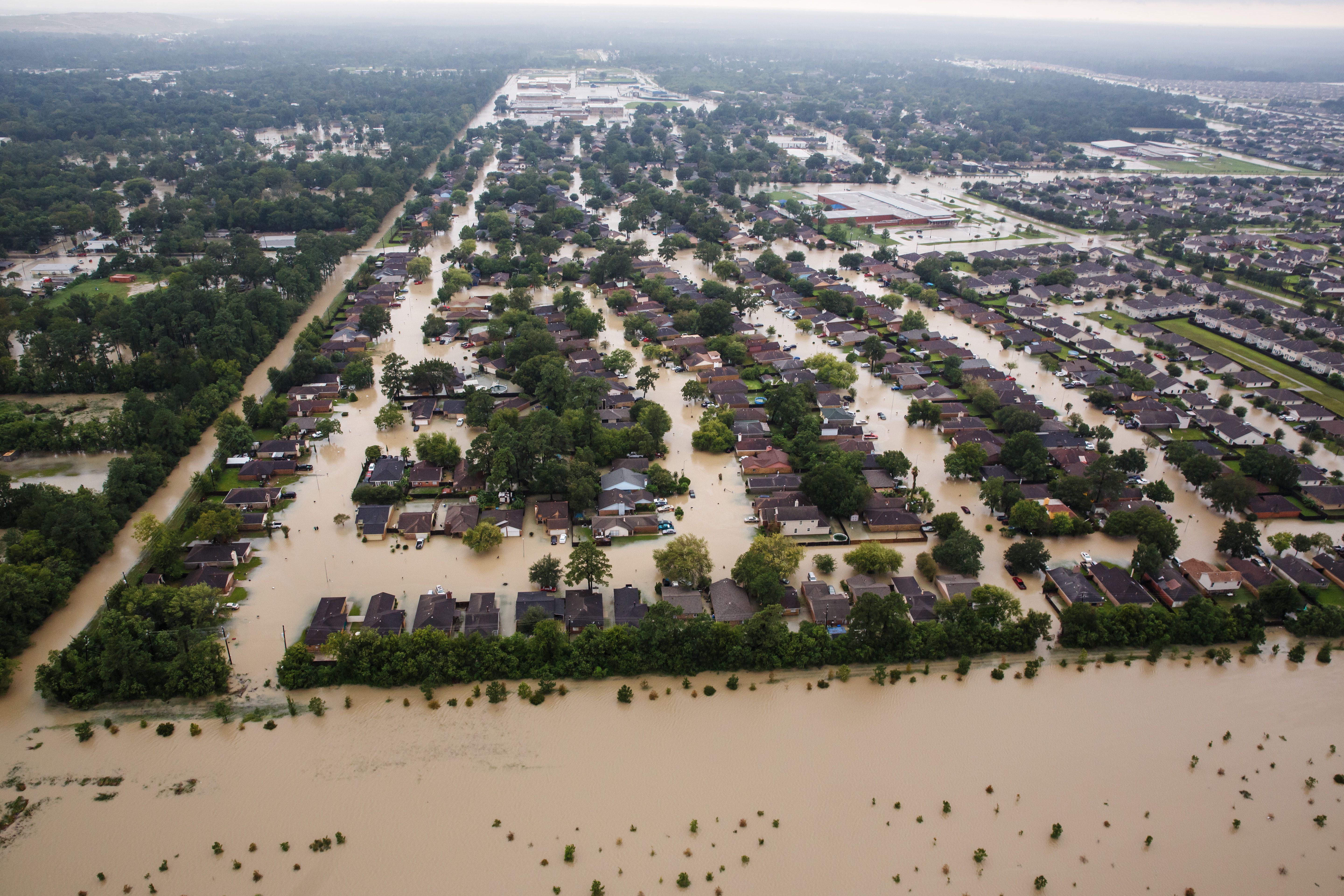 Residential Neighborhoods Near The Interstate 10 Almost Completely Underwater Health Lessons Public Health Harvey