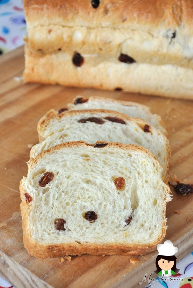 Pan dulce con pasas,Sweet bread with raisins