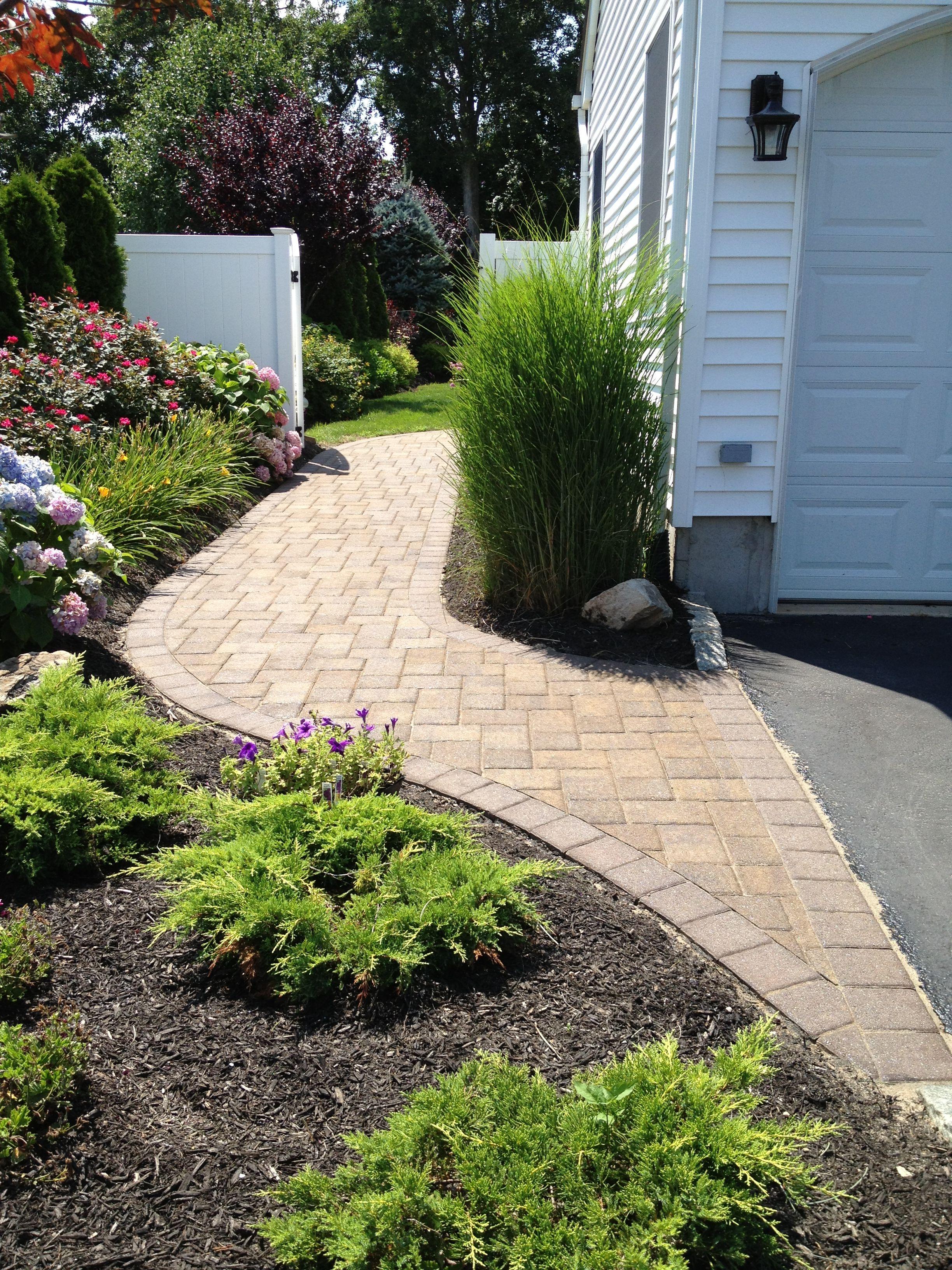 Walkway Garden walkway, Outdoor fireplace patio, Garden