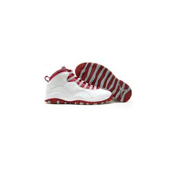 half off 728df 2e44d Air Jordan X White red grey- Clackamas colors!