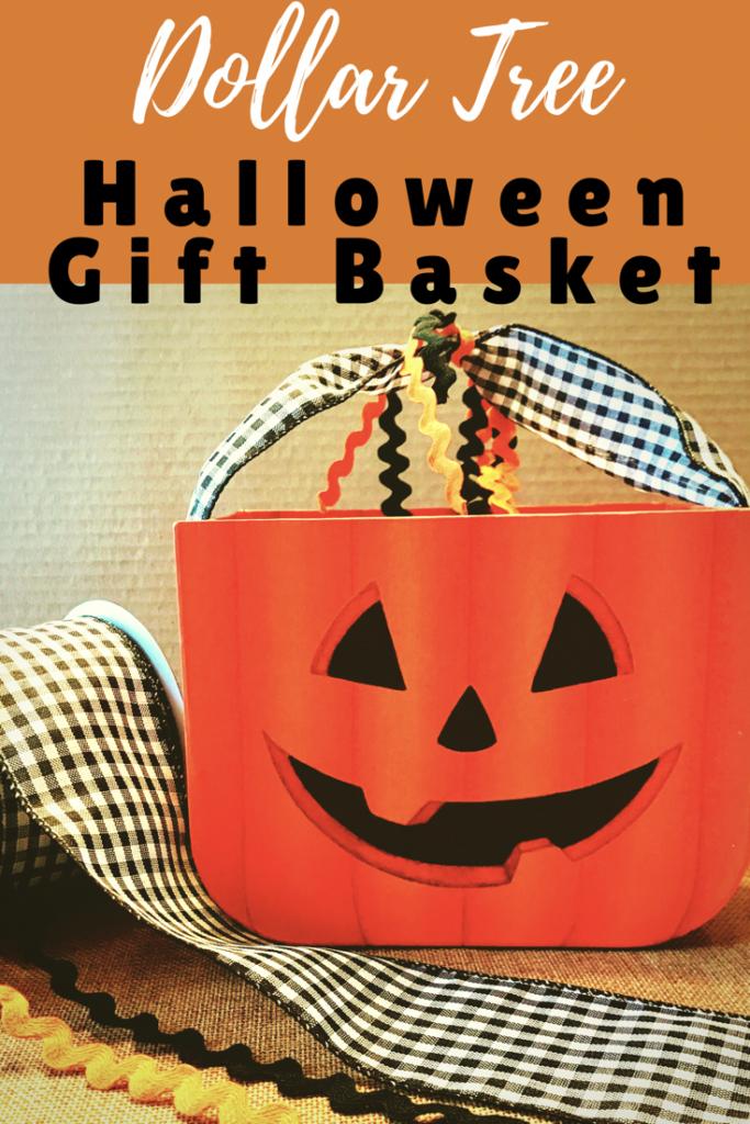 Dollar tree halloween gift baskets
