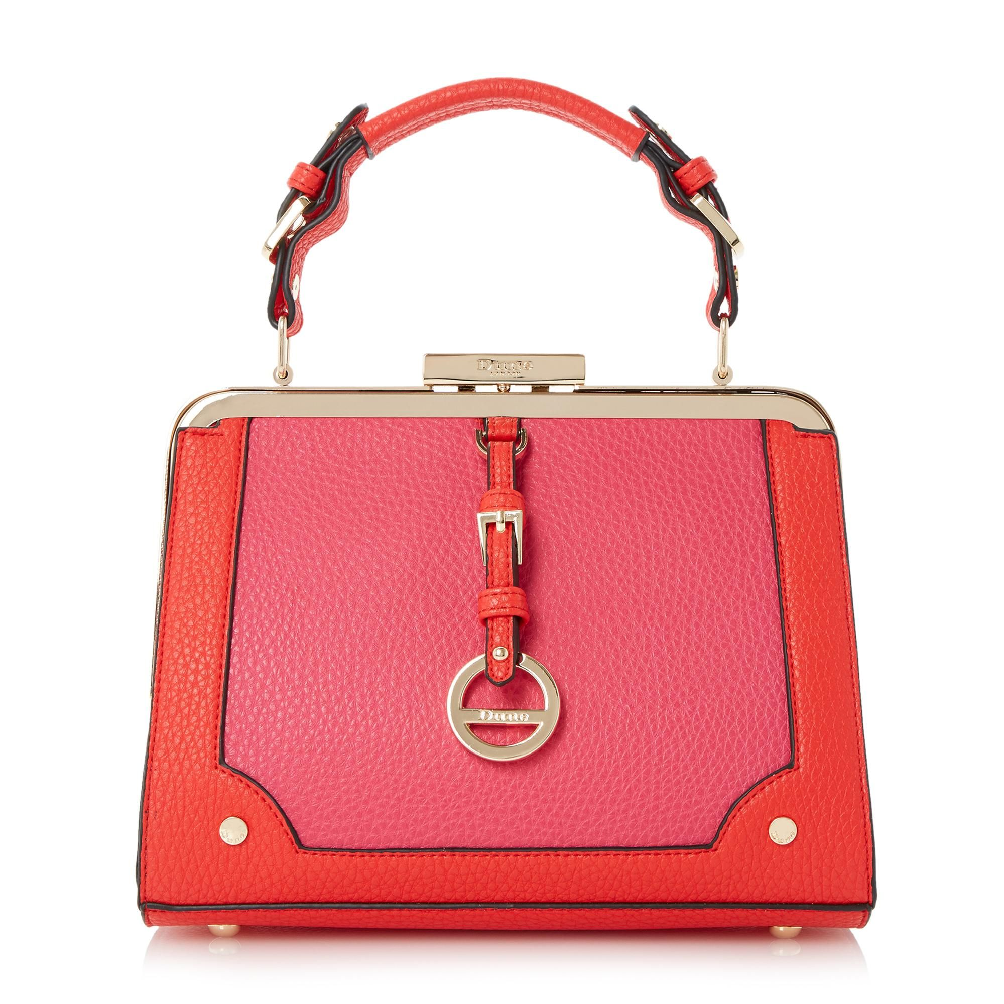 Dune Accessories Dallas Colour Block Frame Top Handle Bag Red By London Dunelondon Dunebags Fashion Style