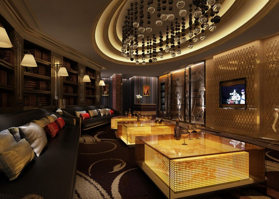 Ktv room wall and ceiling lamp ktv bar pinterest ceilings and walls for Living room steakhouse brooklyn