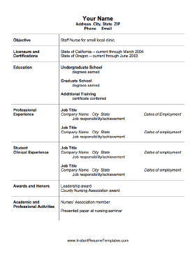 Nursing Resume Template Nursing Resume Template Free Resume Template Download Nursing Resume