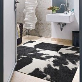 Want Carpet In The Bathroom? FLOR Carpet Tiles Are Easily Movable And  Removable So You