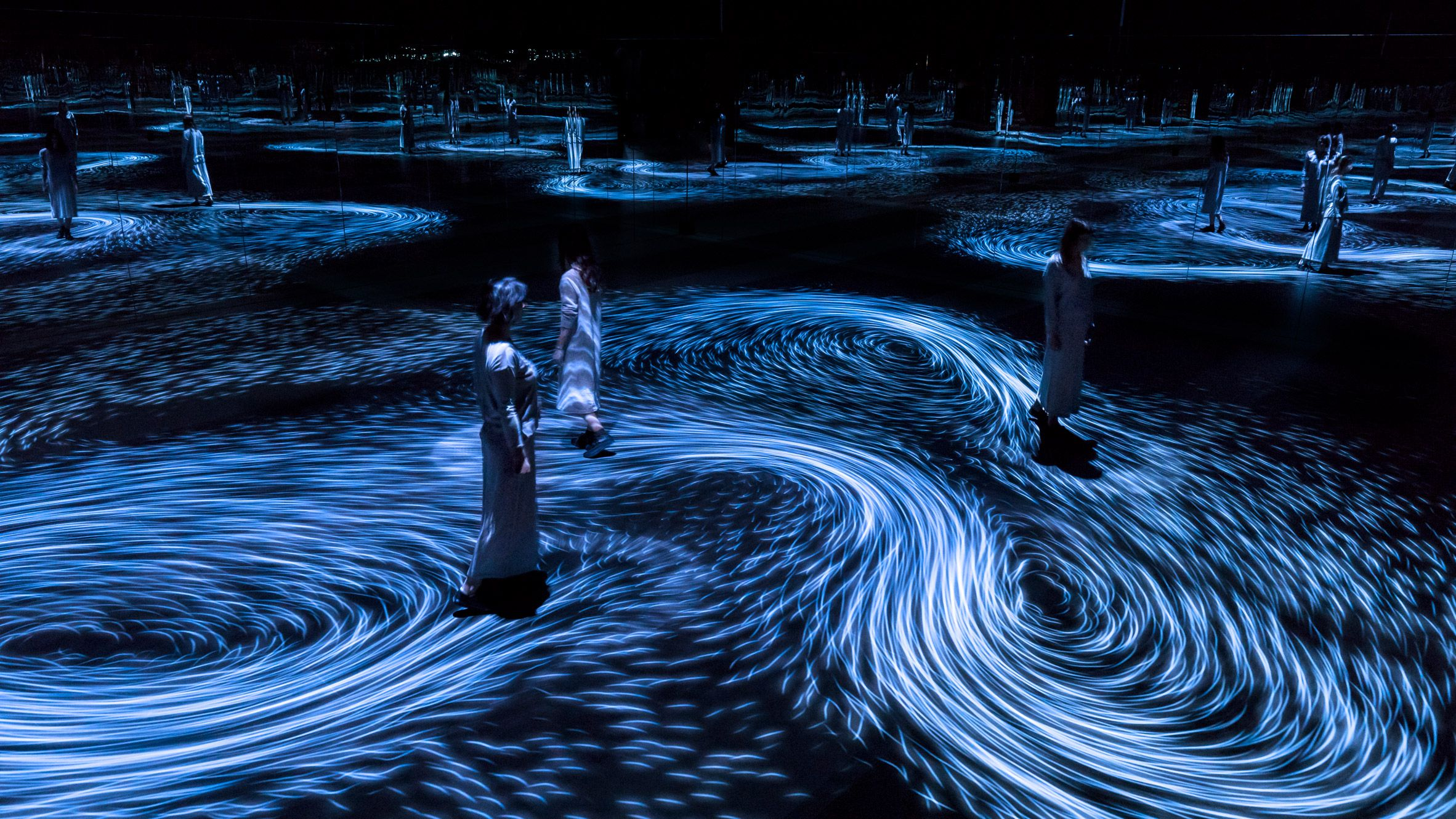 Teamlab Creates Interactive Whirlpools Inside National Gallery Of  # Faire Support Aquarium Beton Cellulaire