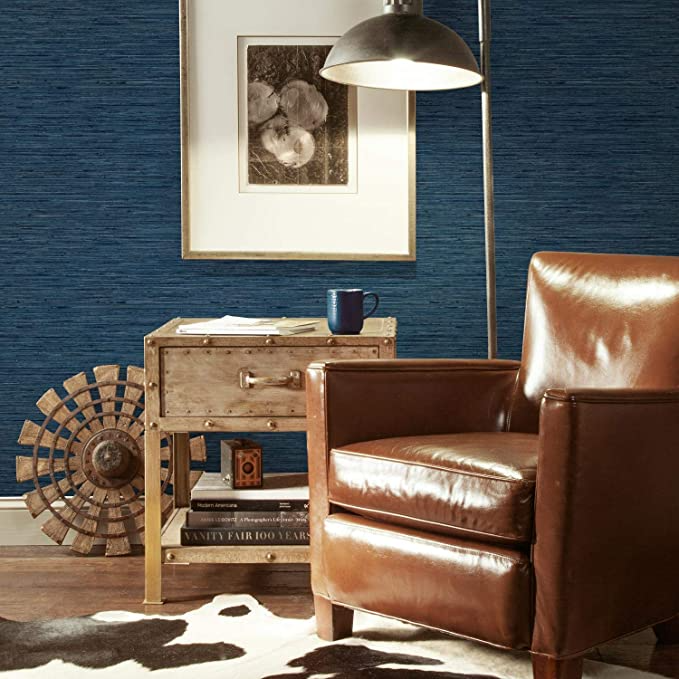 Roommates Grasscloth Blue Peel And Stick Wallpaper Wallpaper Amazon Canada Grasscloth Wallpaper Roommate Decor Peel And Stick Wallpaper