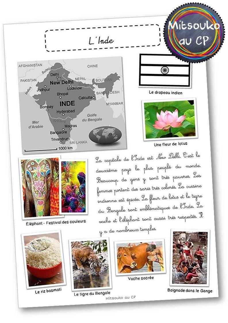 Super Dossier complet sur l'Inde : fiches, albums, activités, vidéos  KL74