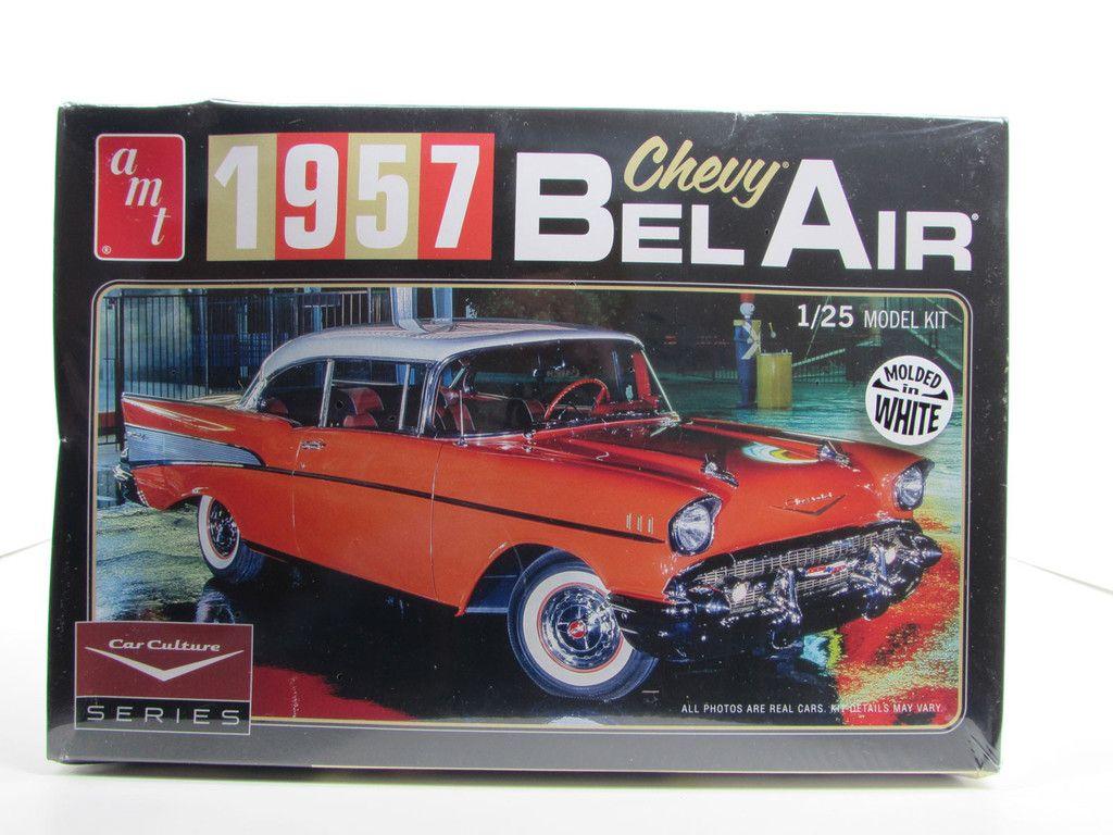1957 chevy bel air amt 983 1 25 new model car kit