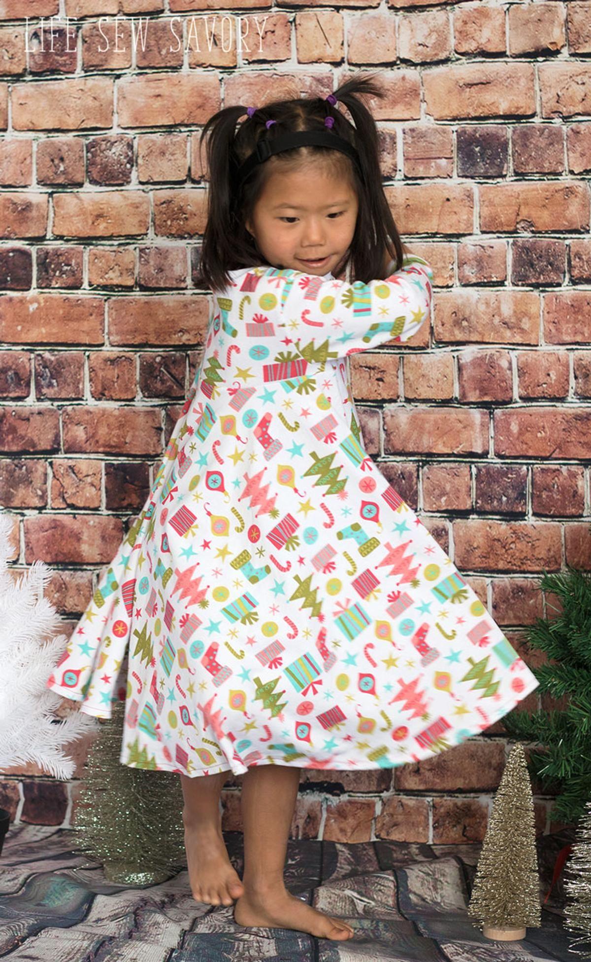 Circle Skirt Knit Dress Free Pattern   Toddler dress ...