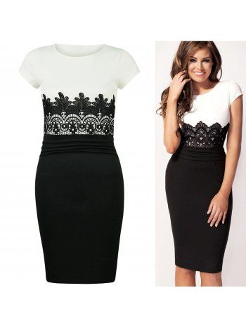 KarmaClothing Jess Wright Contrast Floral Lacel CS Panel Midi Dress