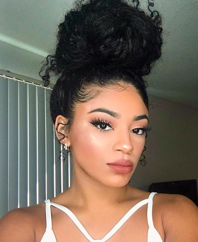 There S A Second Head On Top Of My Head Highlight Artistcouture Conceited Lips Kyliecosmetics Ginger Artist Edges Hair Natural Hair Styles Textured Hair