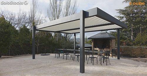 pergola bioclimatica de aluminio con lamas orientables - Pergola De Aluminio