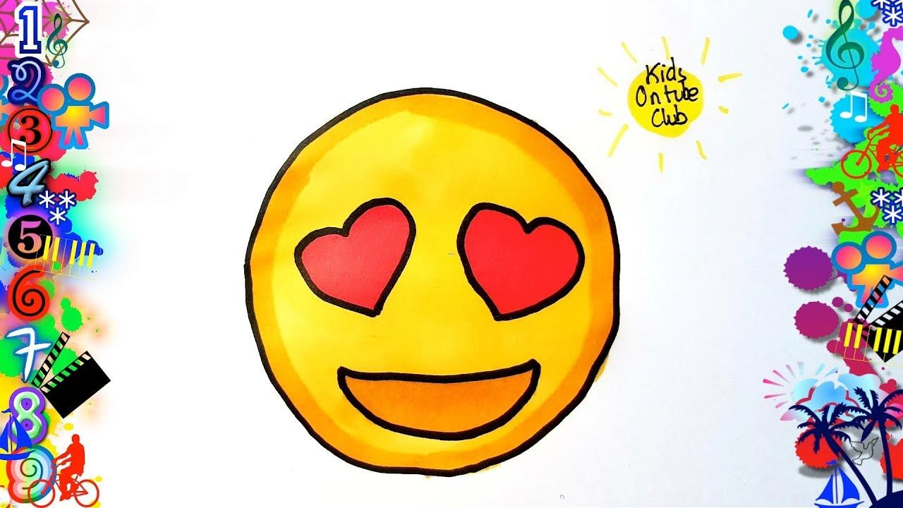 Dibujos Faciles Para Ninos Emoji Corazones Dibujos Dibujo