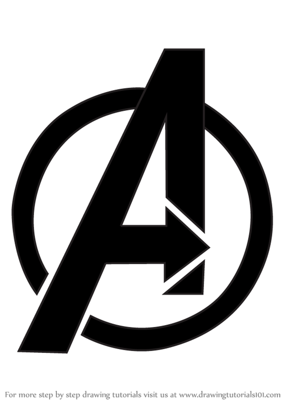 Learn How To Draw Avengers Logo Brand Logos Step By Step Drawing Tutorials How To Draw Avengers Avengers Logo Avengers Drawings