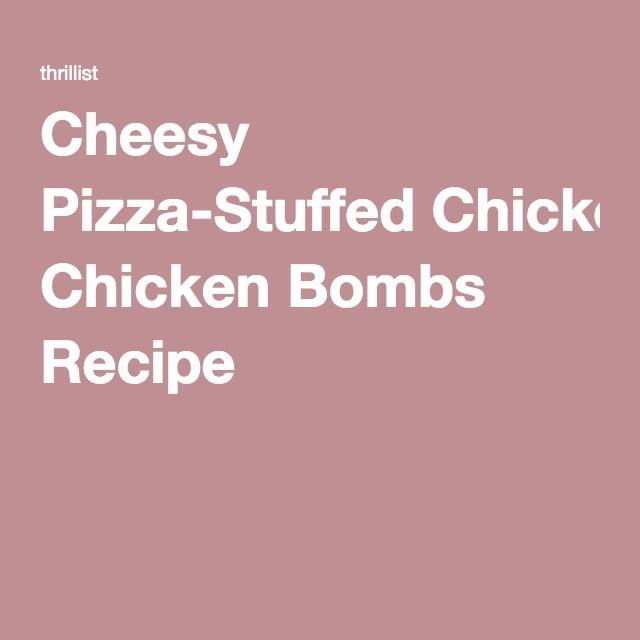 Cheesy Pizza-Stuffed Chicken Bombs Recipe