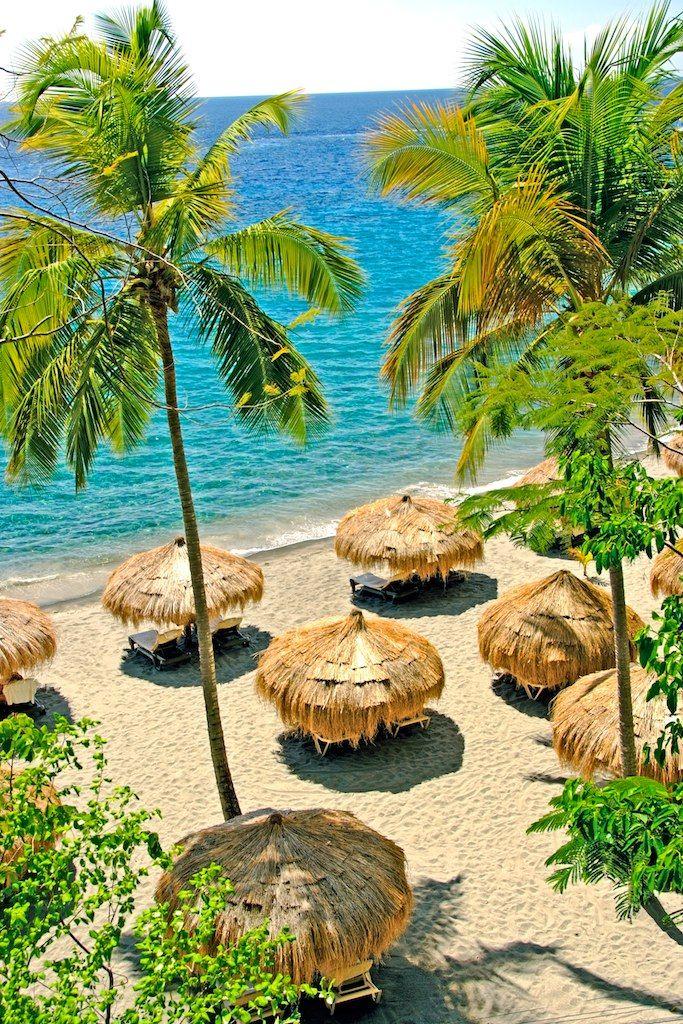 Beach huts at Anse Chastanet resort in St. Lucia - Caribbean  #caribbean #island #sea #beach #cruise #cruisefriend