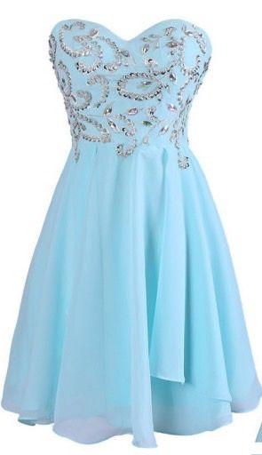 Light blue strapless homecoming dress, short prom dress, graduation dress