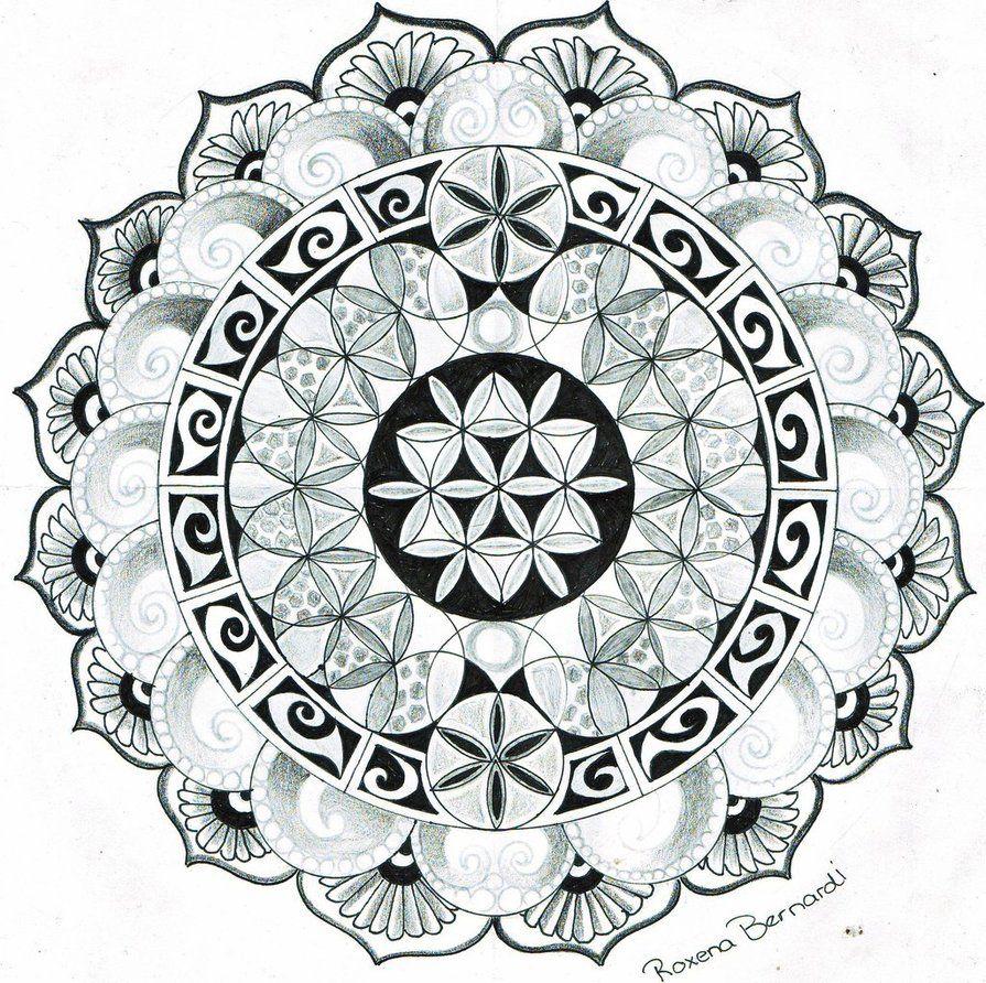 Mandala And Flower Tattoo: Mandala Flower Of Life By RoxenaBernardi On DeviantArt