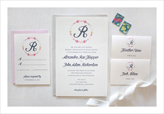 Monique Karl Teal And Chipboard Letterpress Wedding Invitation Suite