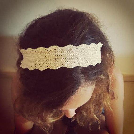 Diadema de ganchillo. Cinta para el pelo a crochet. por MissGis ...
