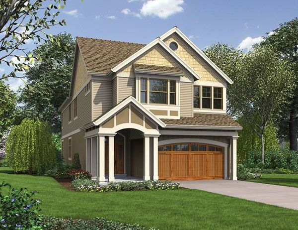 House Plan No 329932 House Plans By Westhomeplanners Com Narrow House Plans Narrow Lot House Plans Garage House Plans