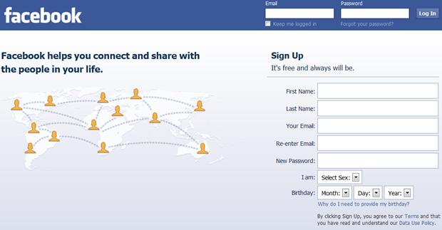 In sign hotmail facebook com www Facebook