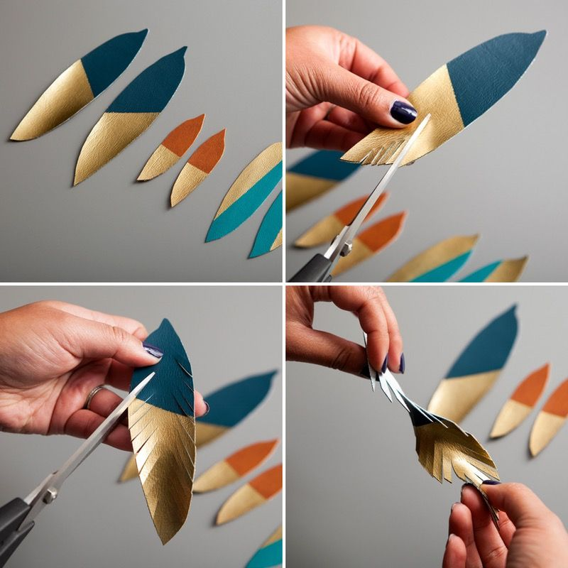 Photo of How to Make Gold-Dipped Leather Feather Earrings
