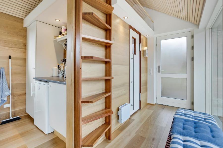 This Scandinavian Modern Tiny House In Denmark Has A 258 Sq Ft Studio Floor Plan With Sleeping Loft