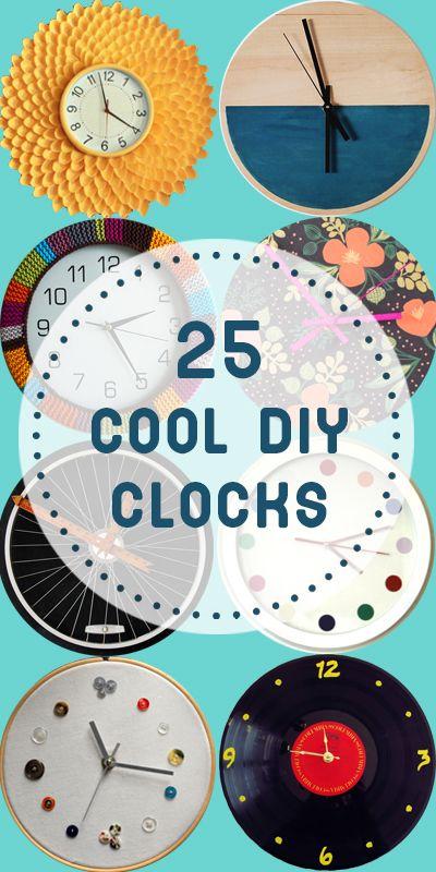 25 Cool Gel Nails Design Ideas: 25 Cool DIY Clocks (Remodelaholic)