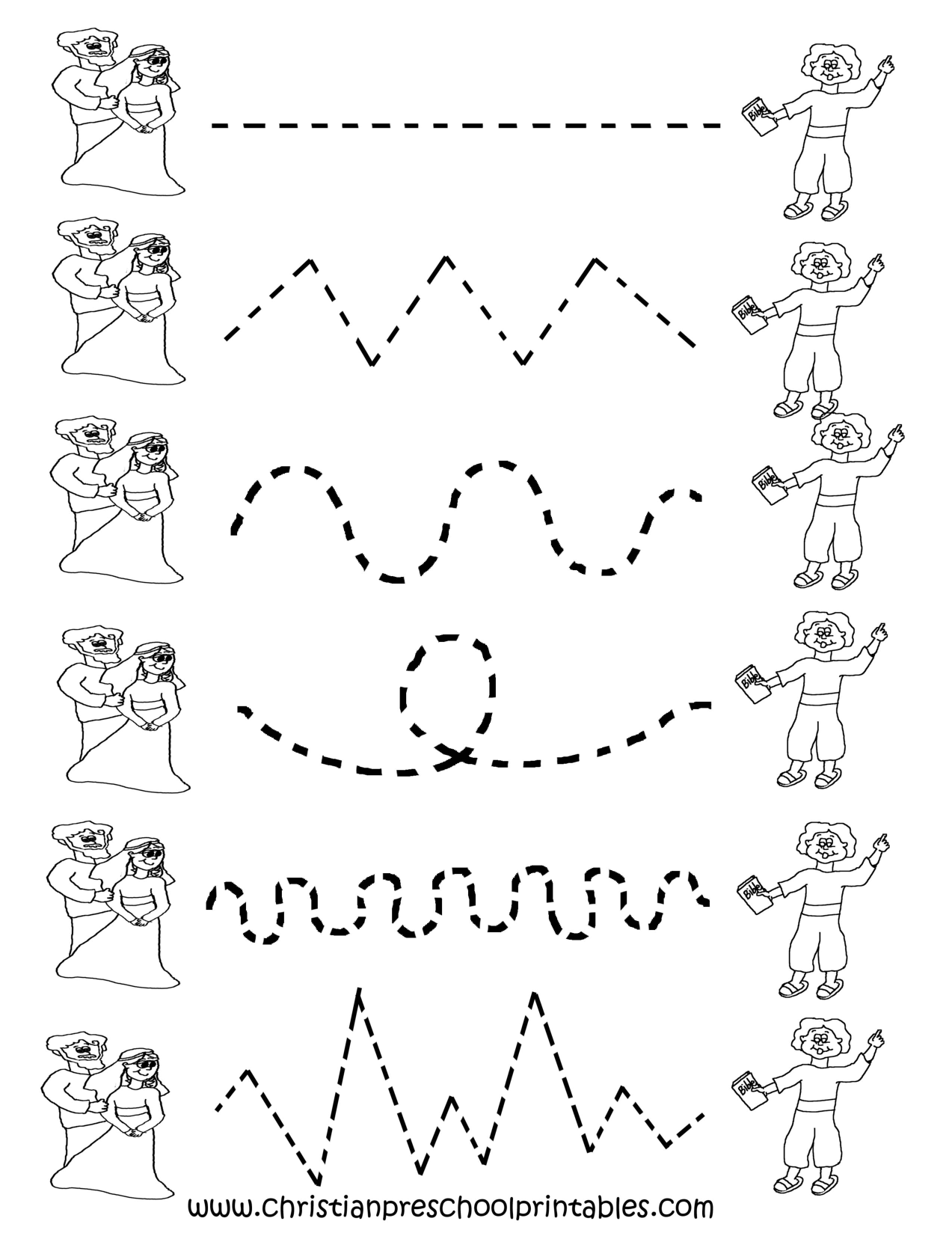 preschool tracing worksheets cakepinscom - Free Printable Worksheets For Children