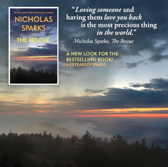 Our new digital cover for Nicholas Sparks's THE RESCUE!