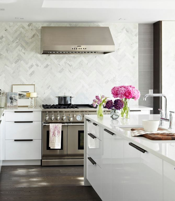 calcutta marble herringbone-wall.jpg | 688 kitchen | Pinterest