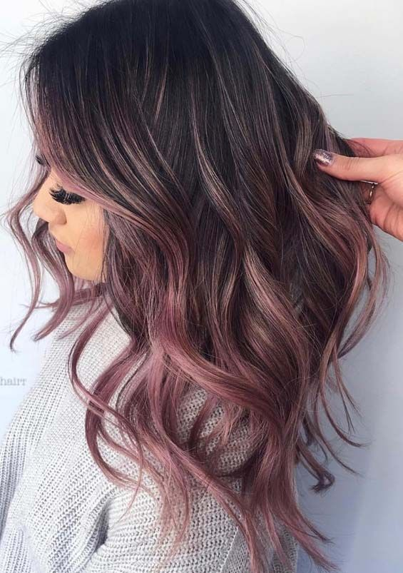 Obsessed Rose Gold Hair Colors & Highlights for Women in 2018