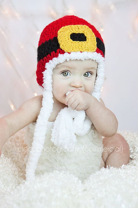 Santa hat!! | Crochet Stitches and Tutes | Pinterest | Gorros, Bebé ...