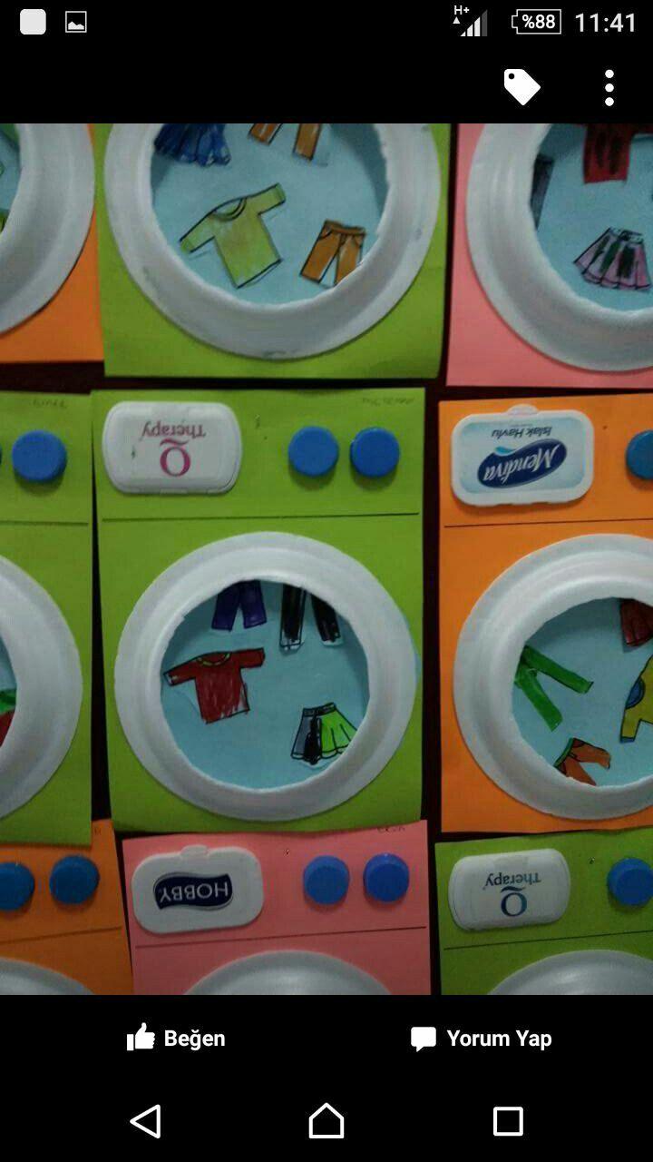 çamaşır Makinesi Denenecek Projeler Preschool Art Preschool