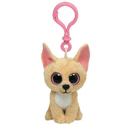 TY Beanie Boos - NACHO the Chihuahua Dog (Plastic Key Clip - 3 inch)