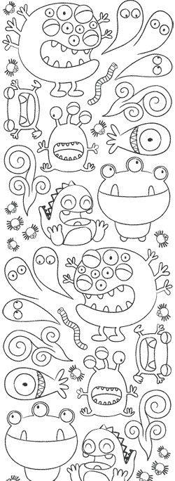 Monsters!!! | mounstros | Pinterest | Los monstruos, Papelería y ...