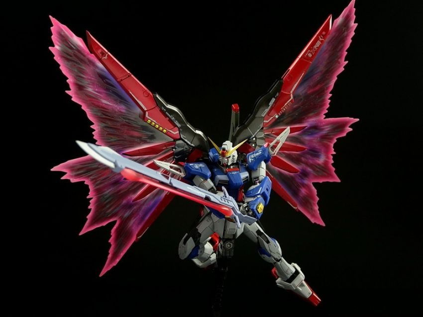 RG 1/144 Destiny Gundam + Wing of Light Expansion Set - Painted Build #gundam #gunpla #emultiverse