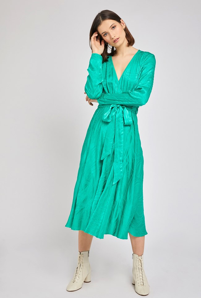 Rain Green Wrap Maxi Dress Ghost London Boho bohemian
