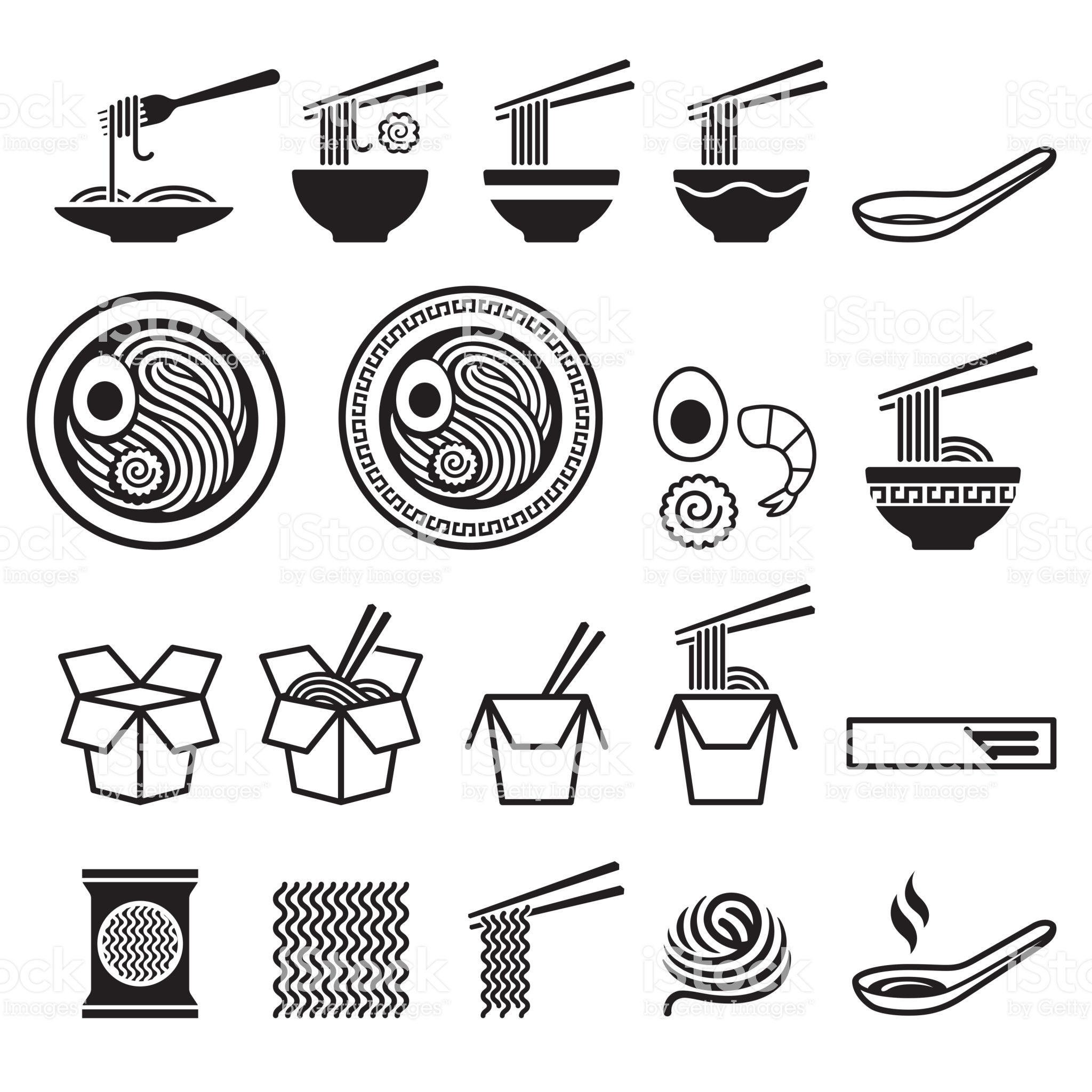 Noodle icons set. royalty-free noodle icons set stock vector art & more images of pasta