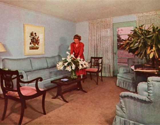 During this post-war time, the focus of the home was placed on ...