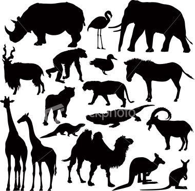 Animal Sillhouettes Animal Silhouette Silhouette Art Animals